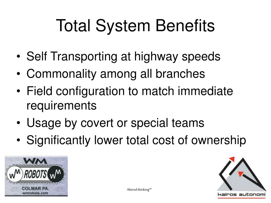 Total System Benefits