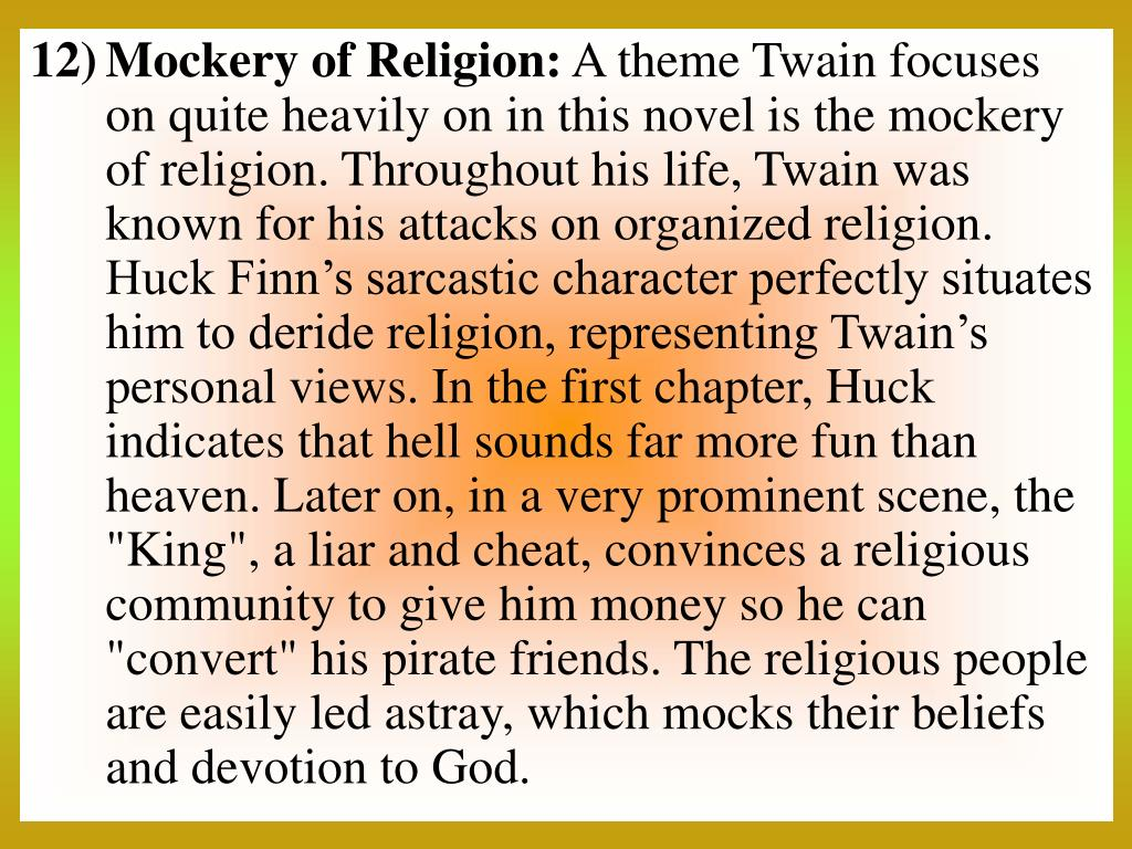 Mockery of Religion: