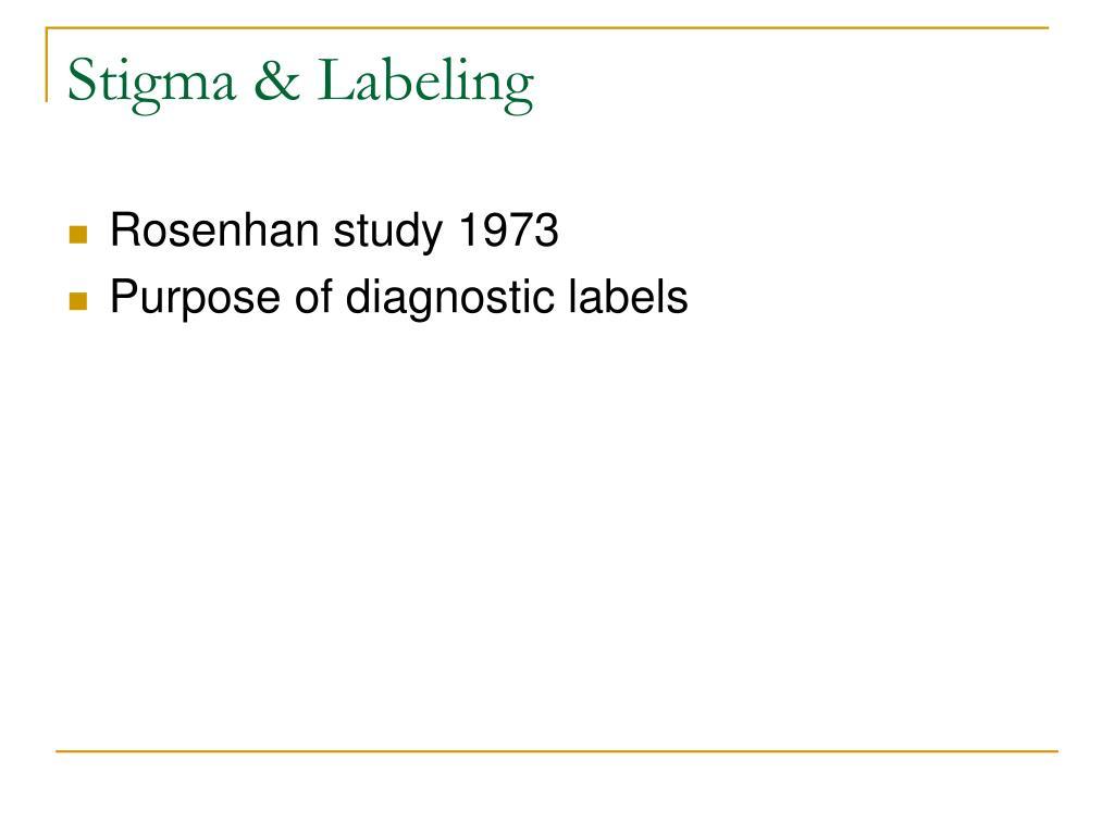 Stigma & Labeling