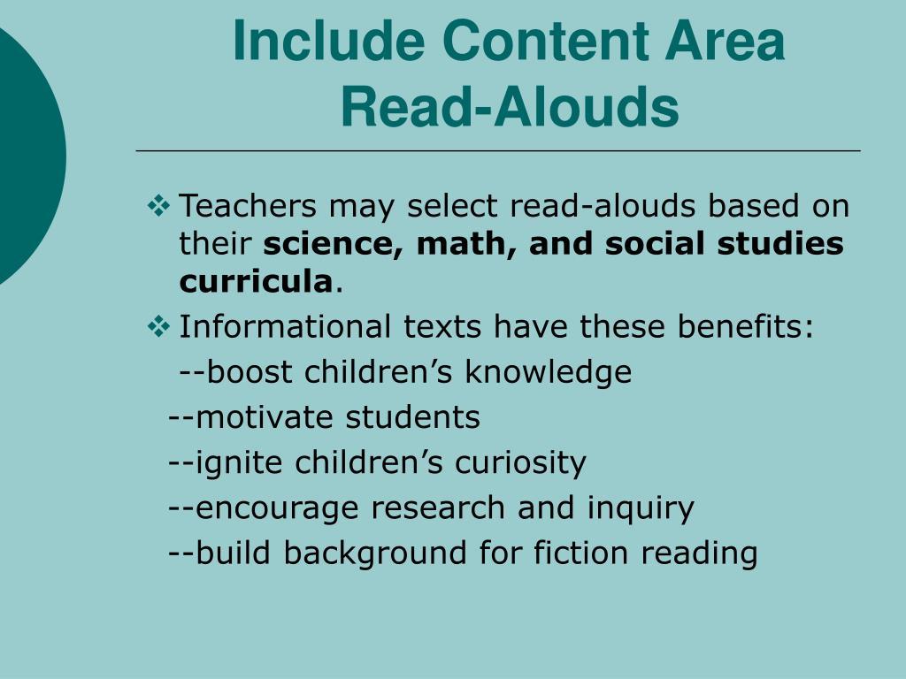 Include Content Area