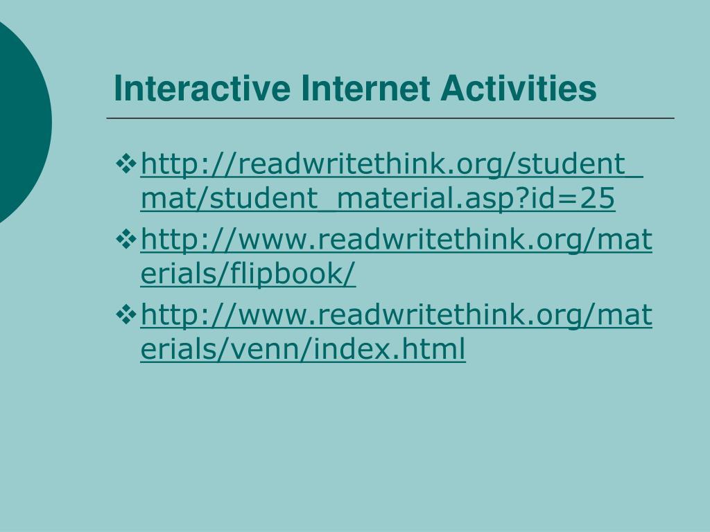 Interactive Internet Activities