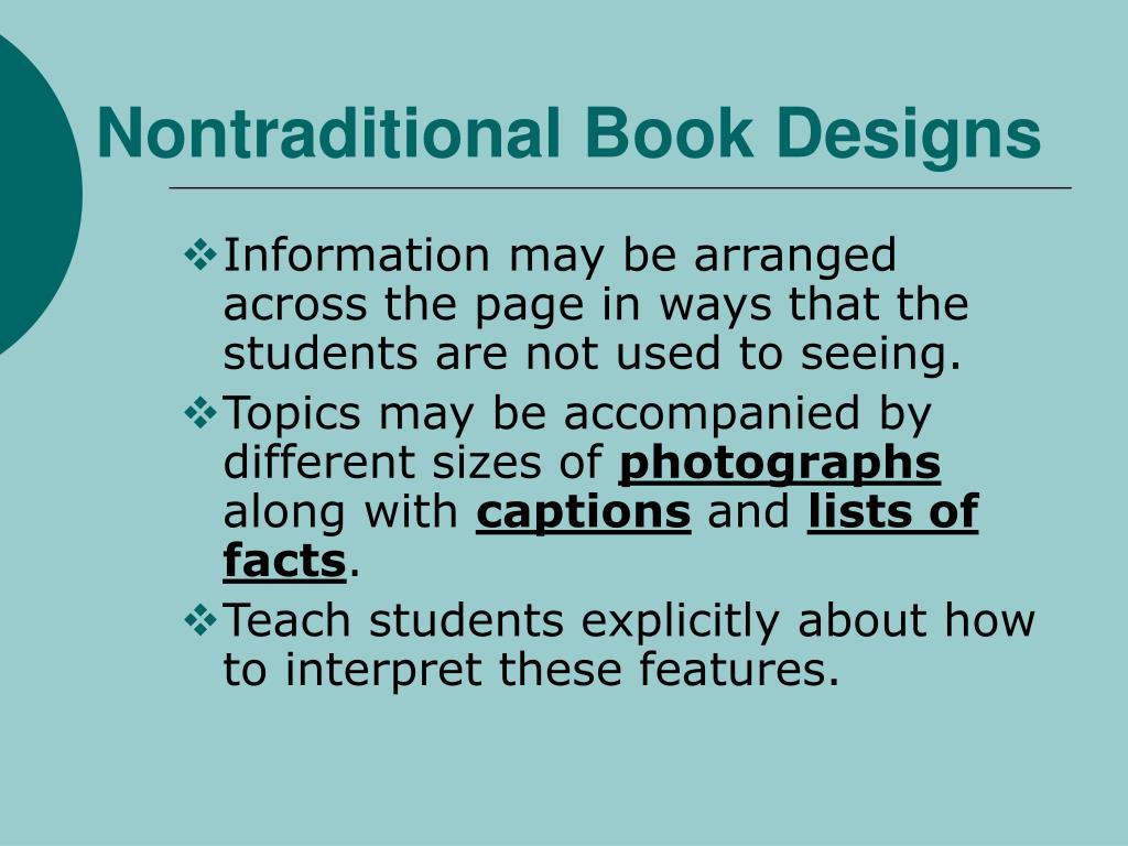 Nontraditional Book Designs