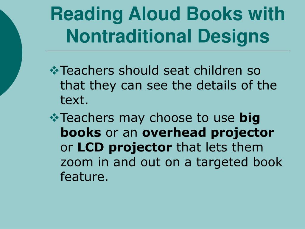 Reading Aloud Books with Nontraditional Designs