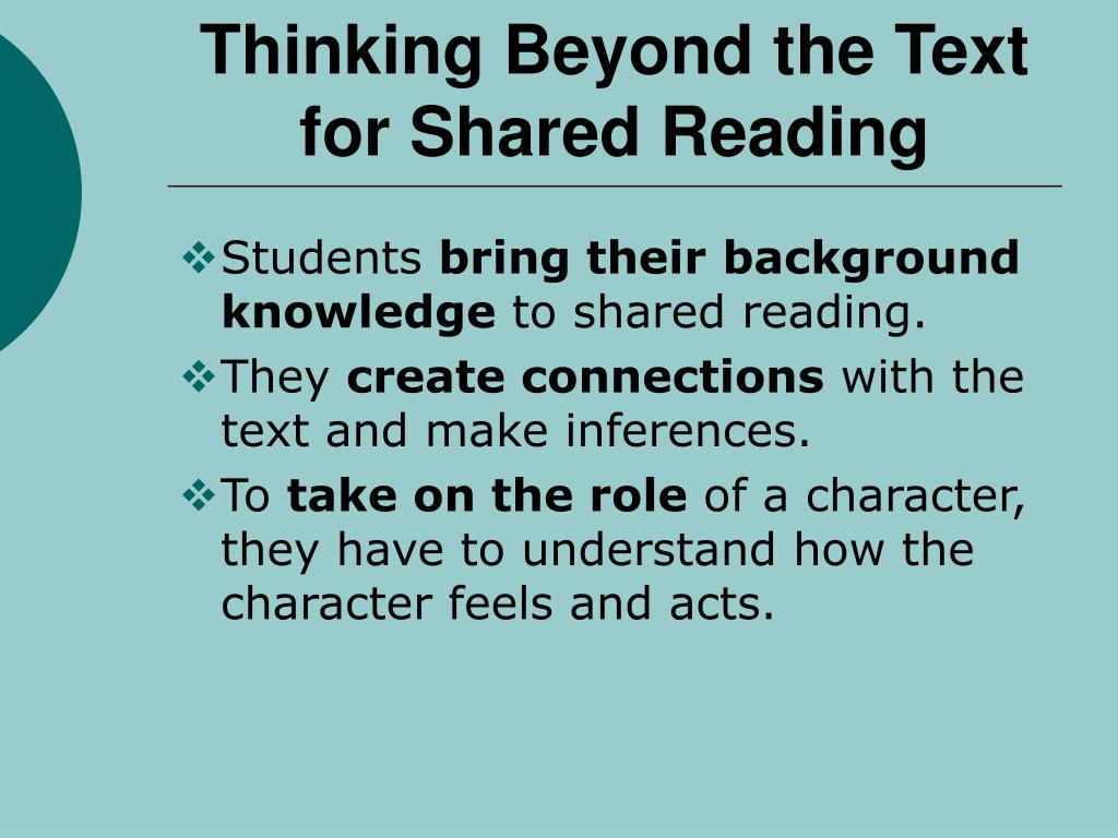 Thinking Beyond the Text