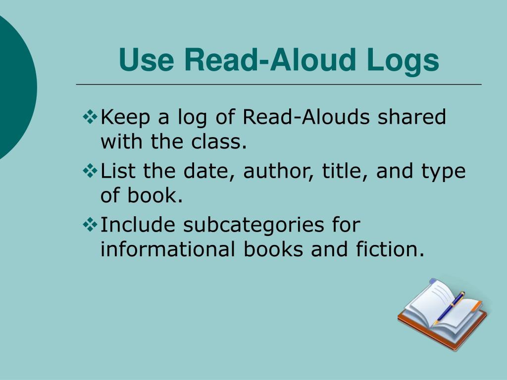 Use Read-Aloud Logs