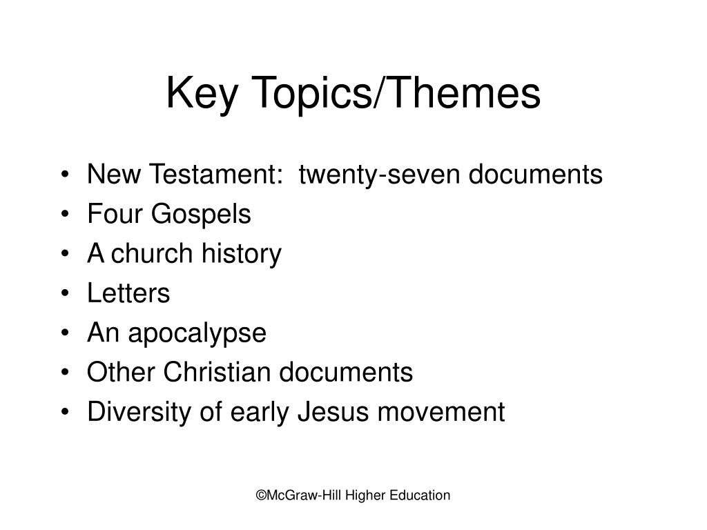 Key Topics/Themes