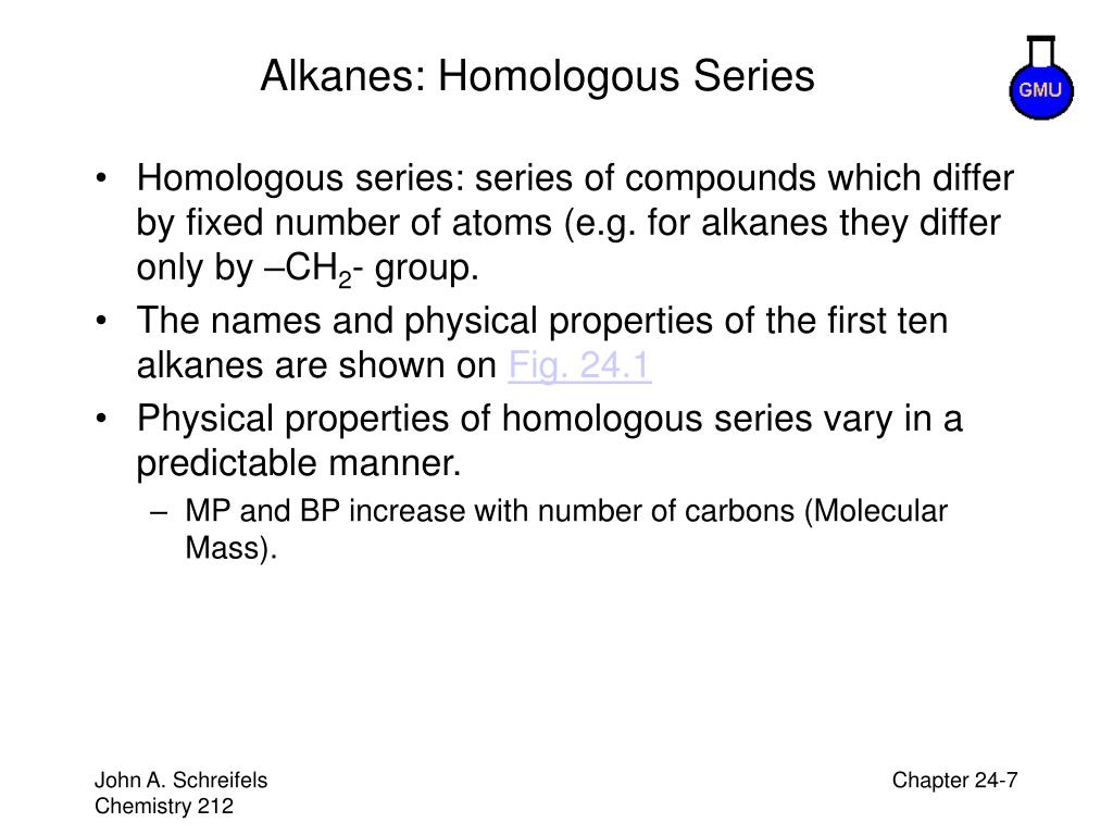 Alkanes: Homologous Series