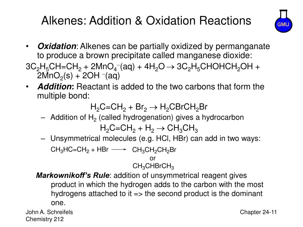 Alkenes: Addition & Oxidation Reactions