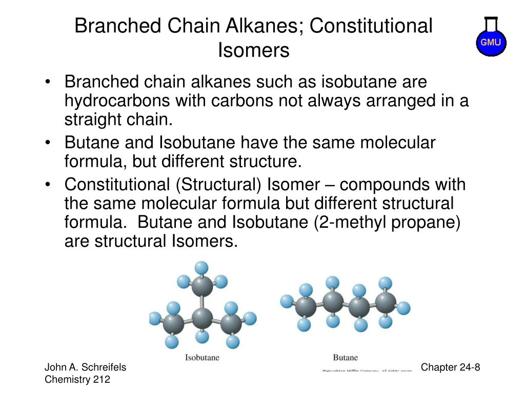 Branched Chain Alkanes; Constitutional Isomers