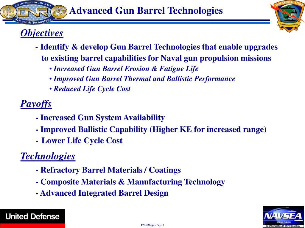 Advanced Gun Barrel Technologies