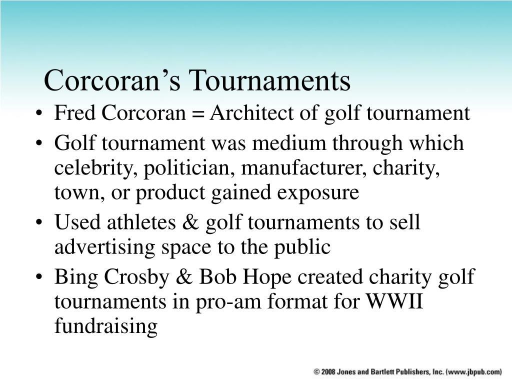 Corcoran's Tournaments
