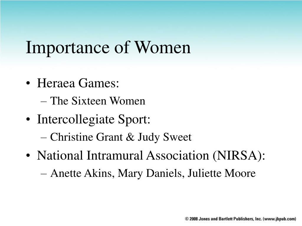 Importance of Women