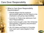 care giver responsibility