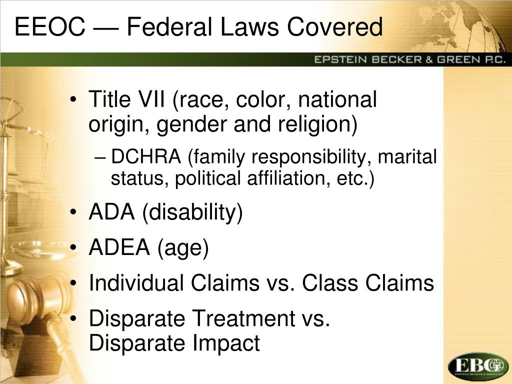 EEOC — Federal Laws Covered