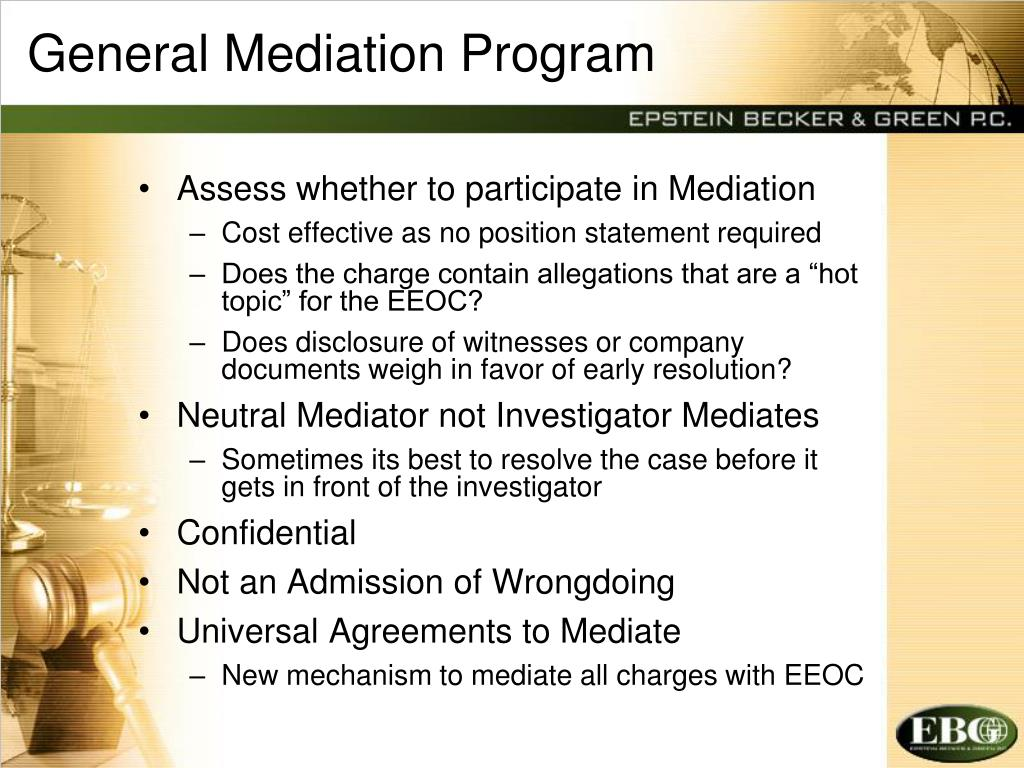 General Mediation Program