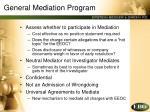 general mediation program
