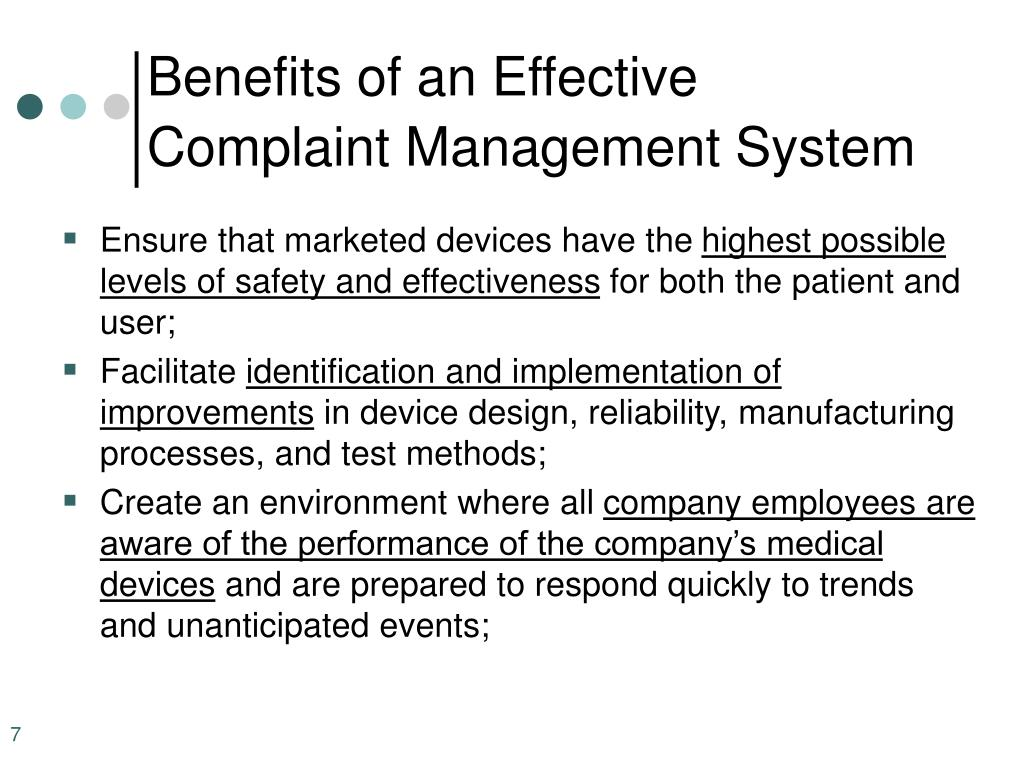 Benefits of an Effective Complaint Management System