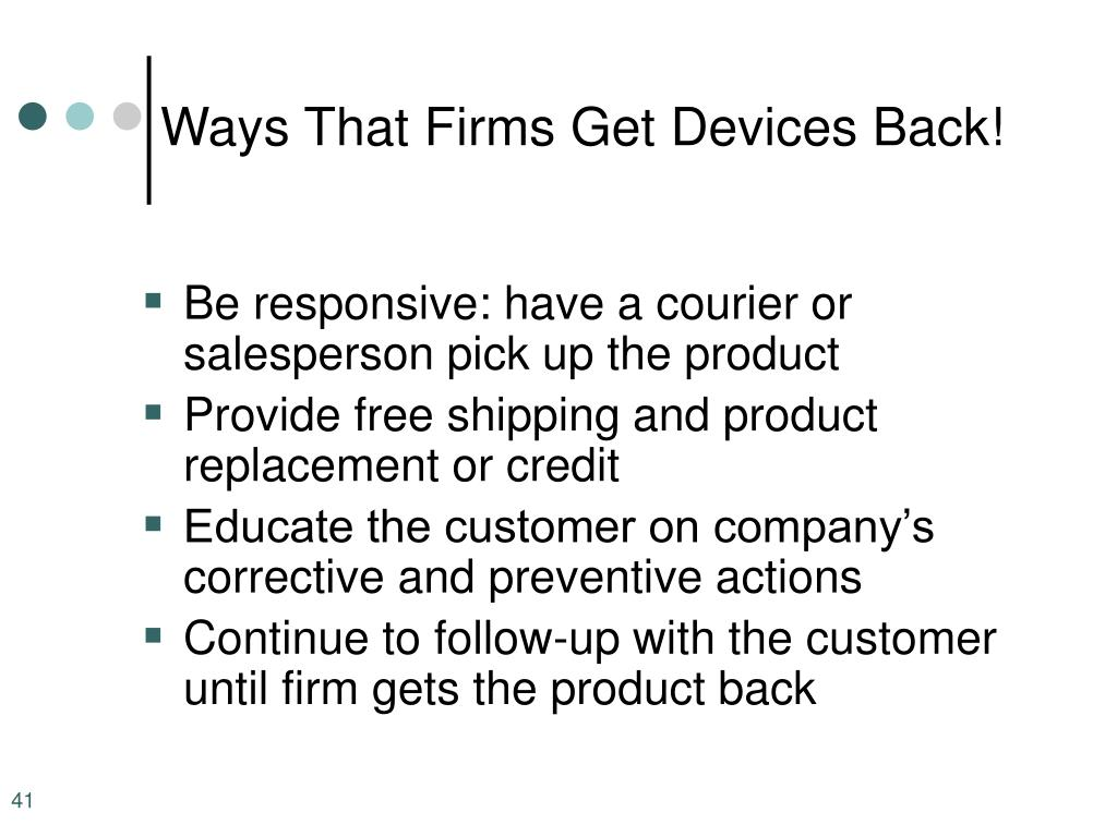 Ways That Firms Get Devices Back!