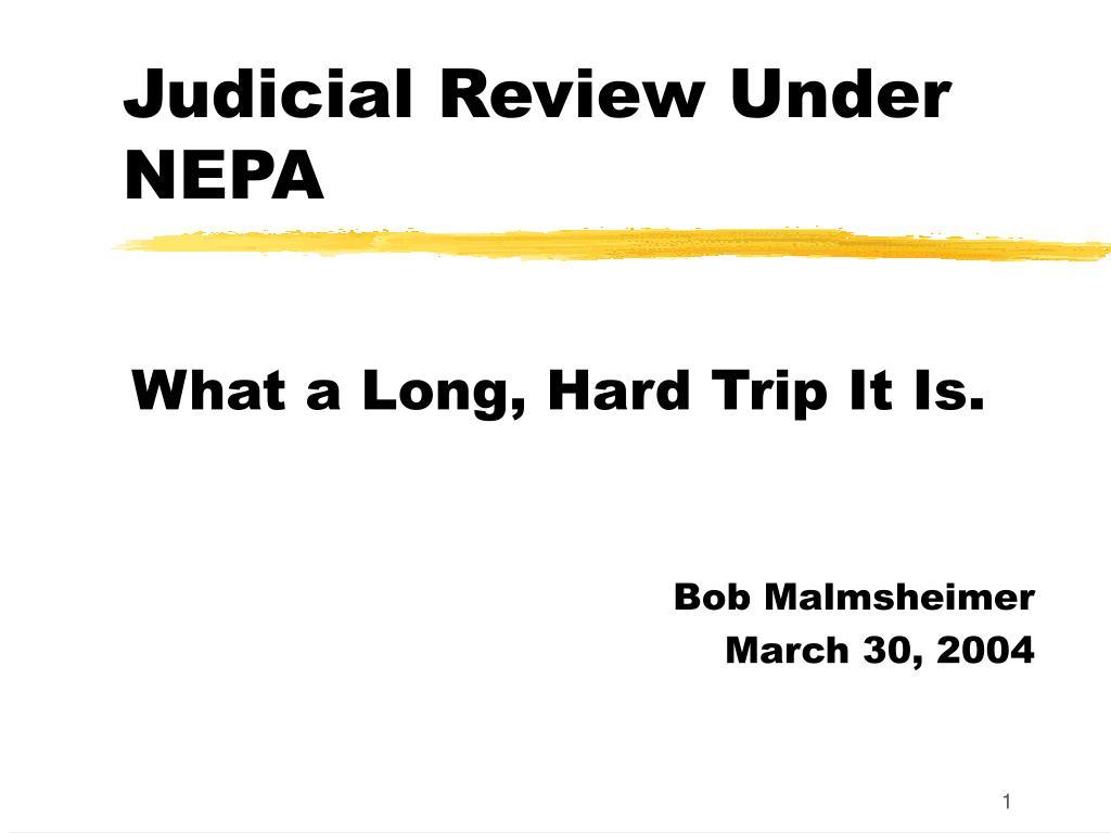 Judicial Review Under NEPA