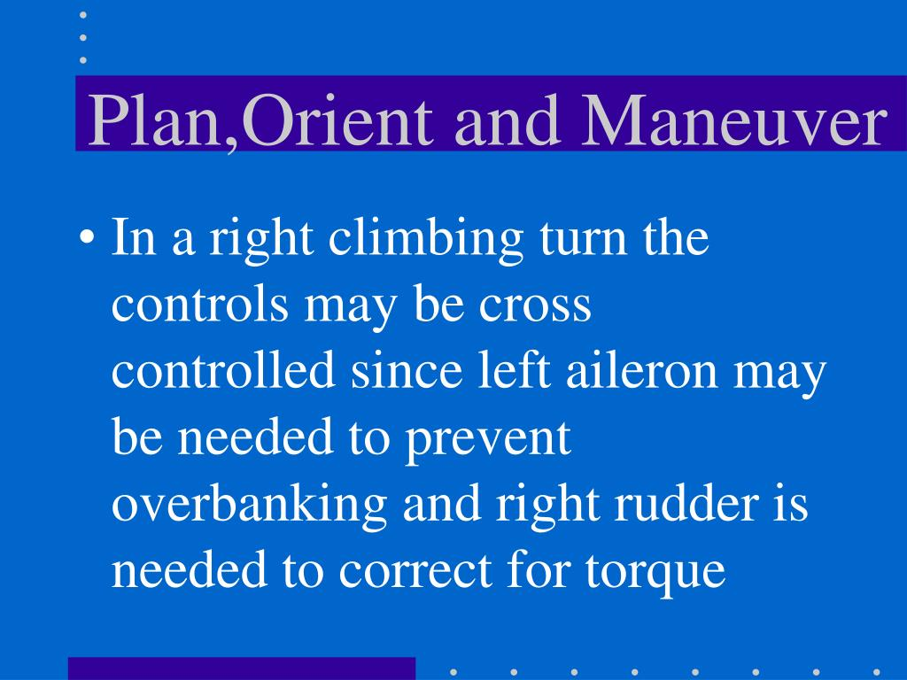 Plan,Orient and Maneuver