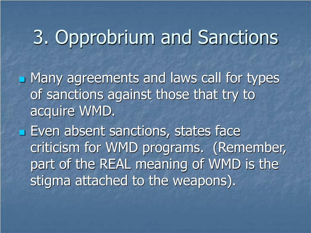 3. Opprobrium and Sanctions