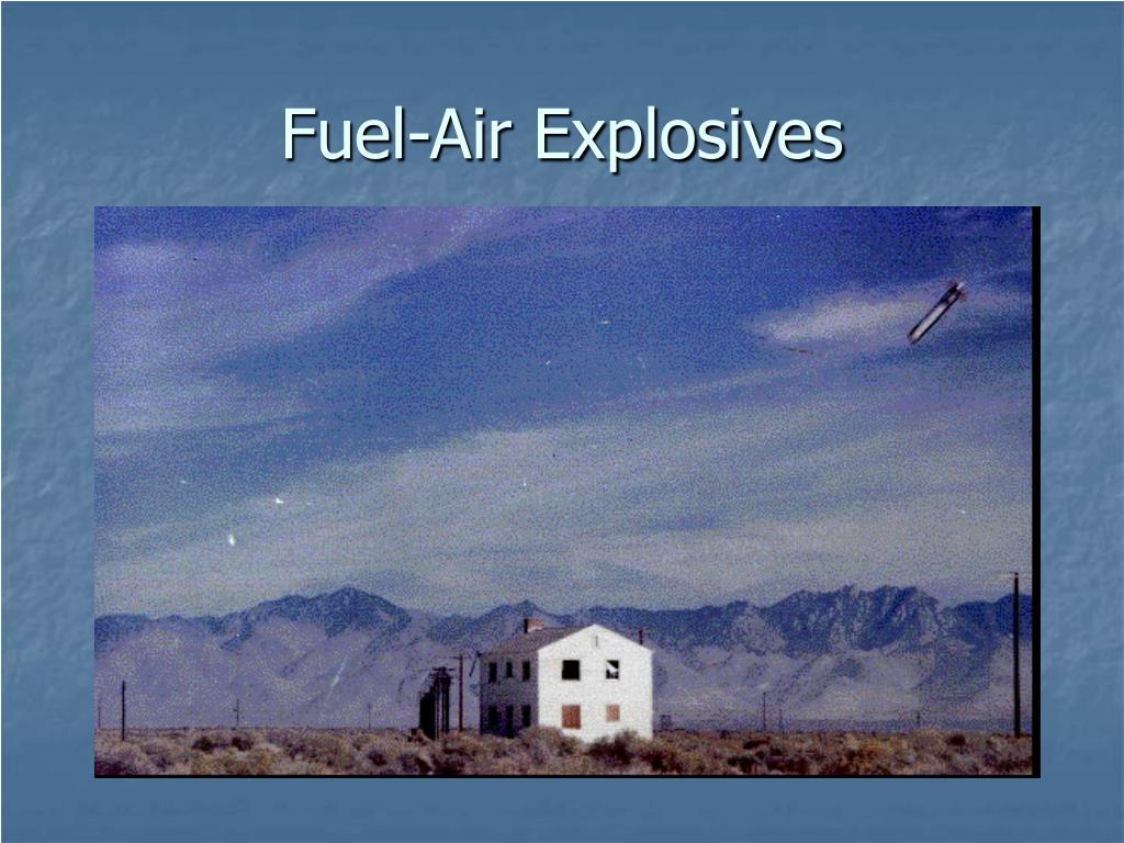 Fuel-Air Explosives
