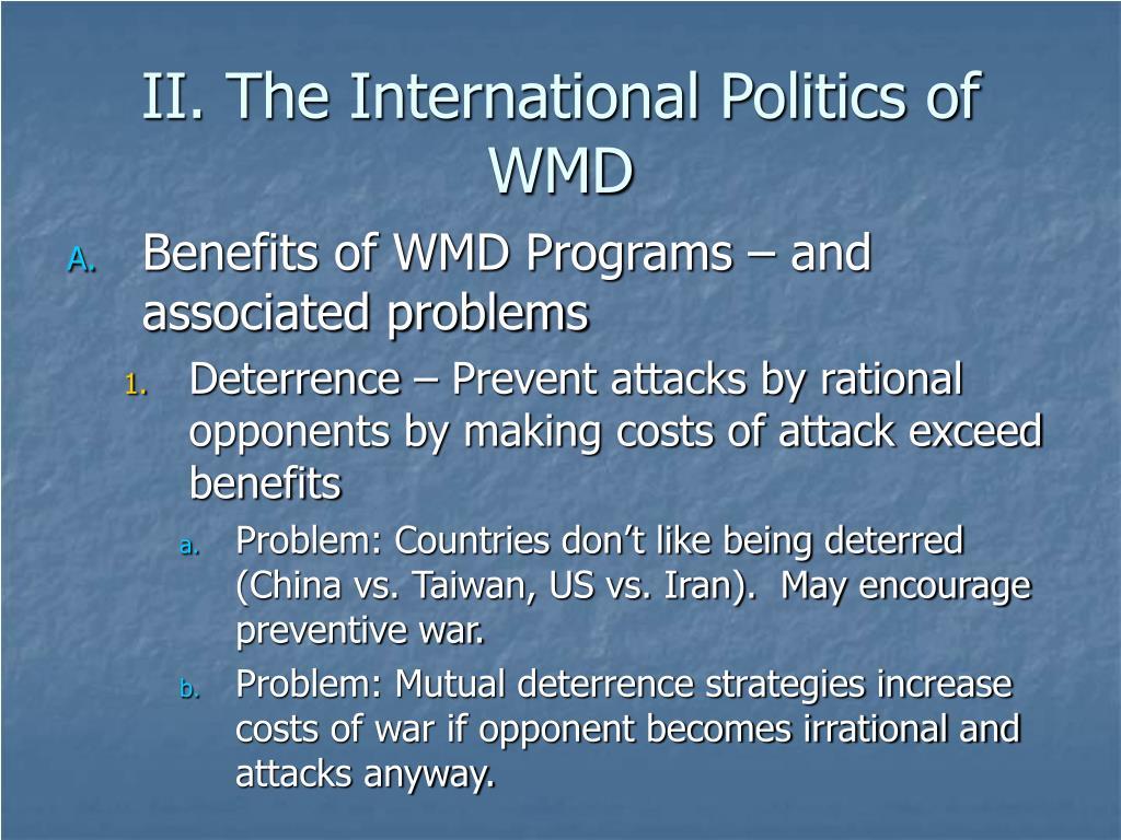 II. The International Politics of WMD