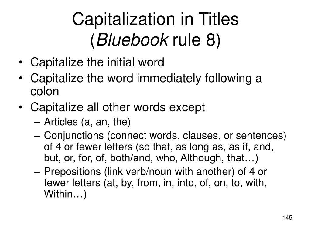 Capitalization in Titles