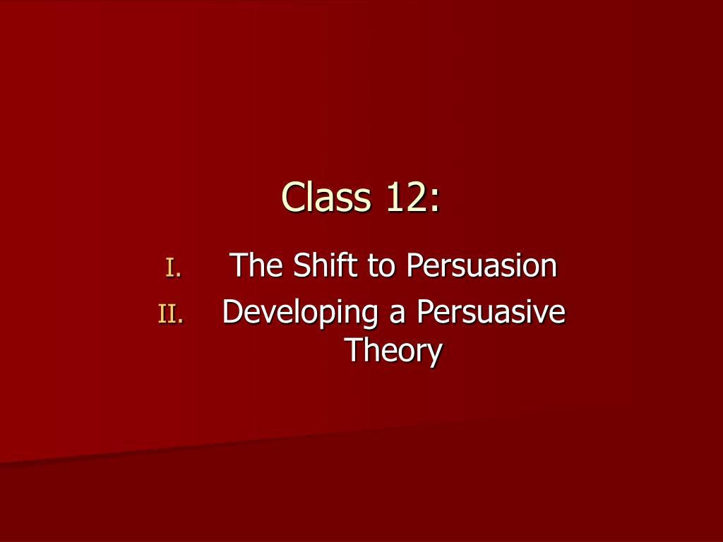 Class 12: