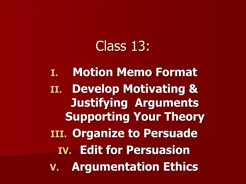 Class 13: