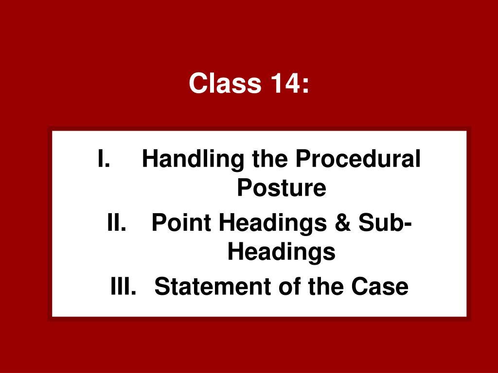 Class 14: