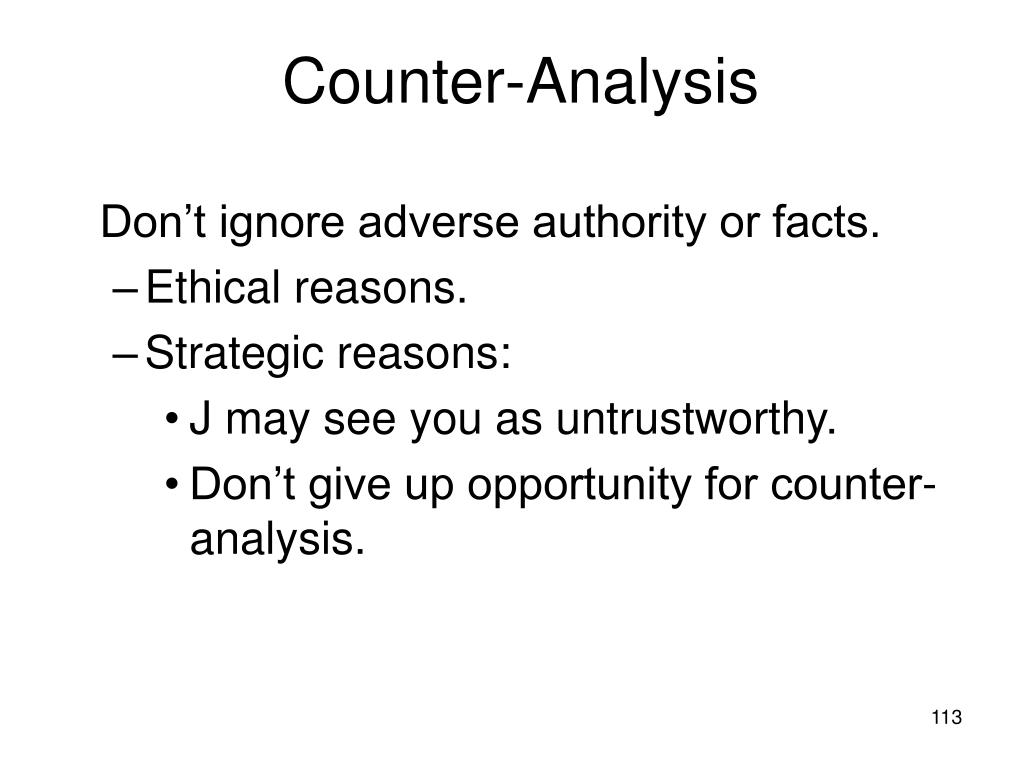 Counter-Analysis