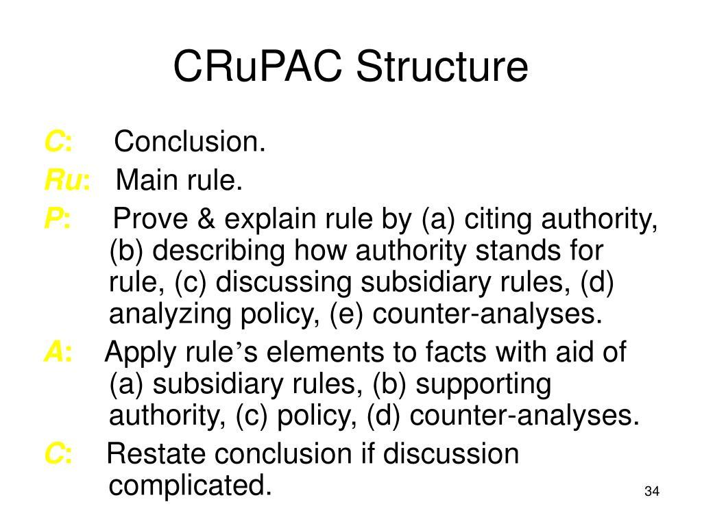 CRuPAC Structure