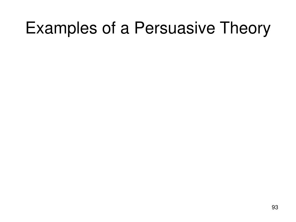 Examples of a Persuasive Theory