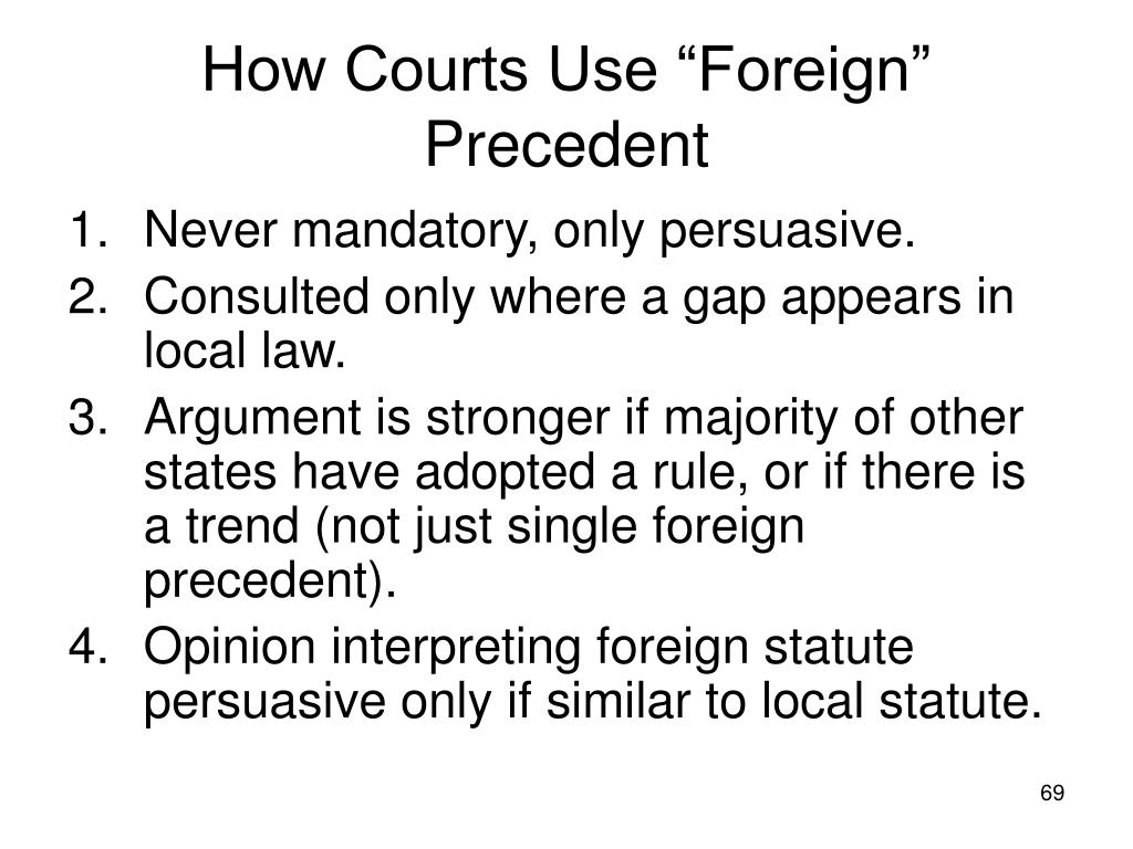 """How Courts Use """"Foreign"""" Precedent"""