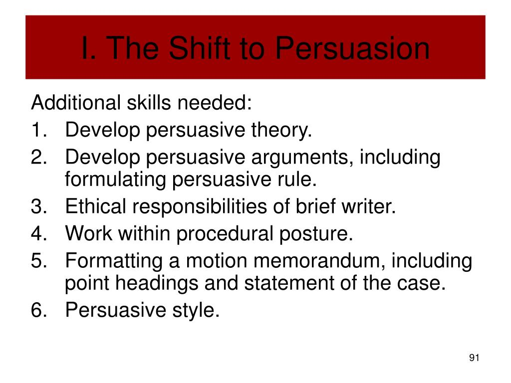 I. The Shift to Persuasion