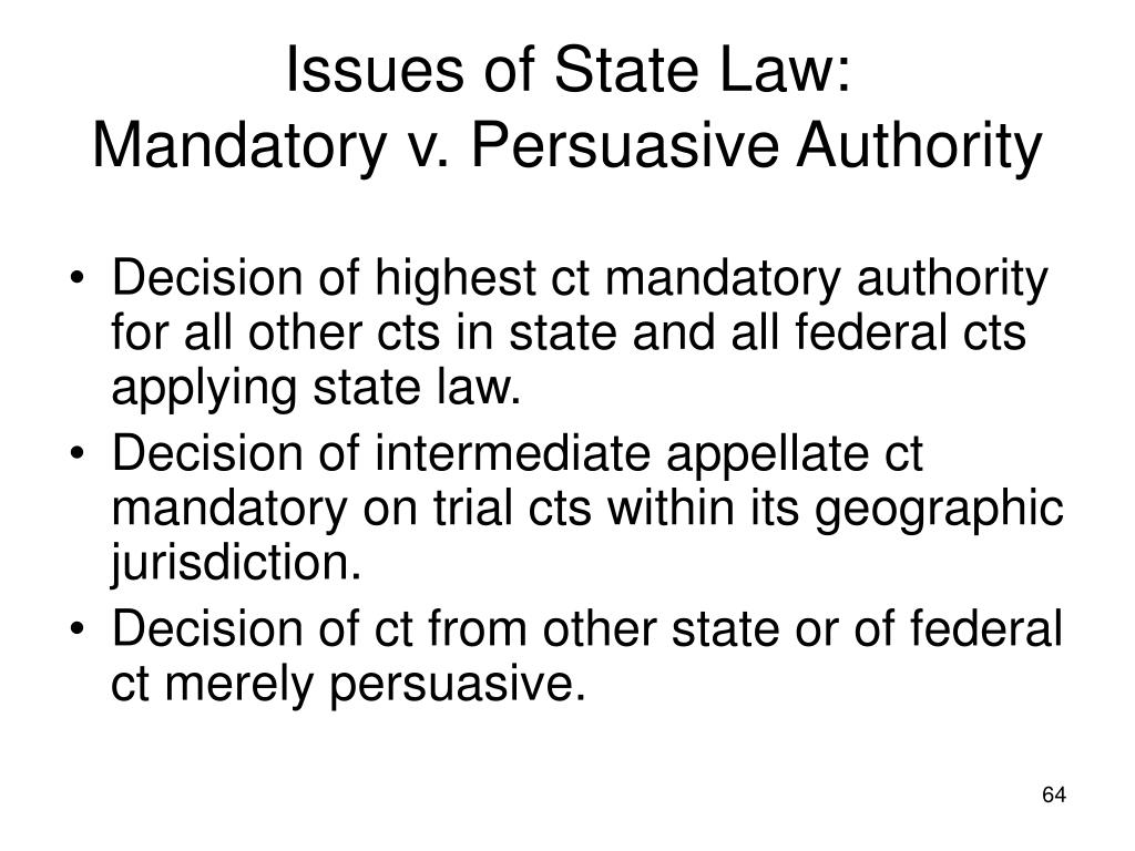 Issues of State Law: