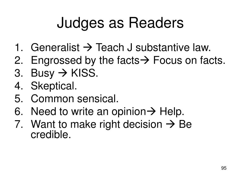 Judges as Readers