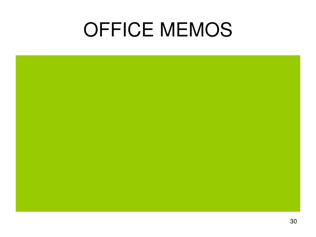 OFFICE MEMOS