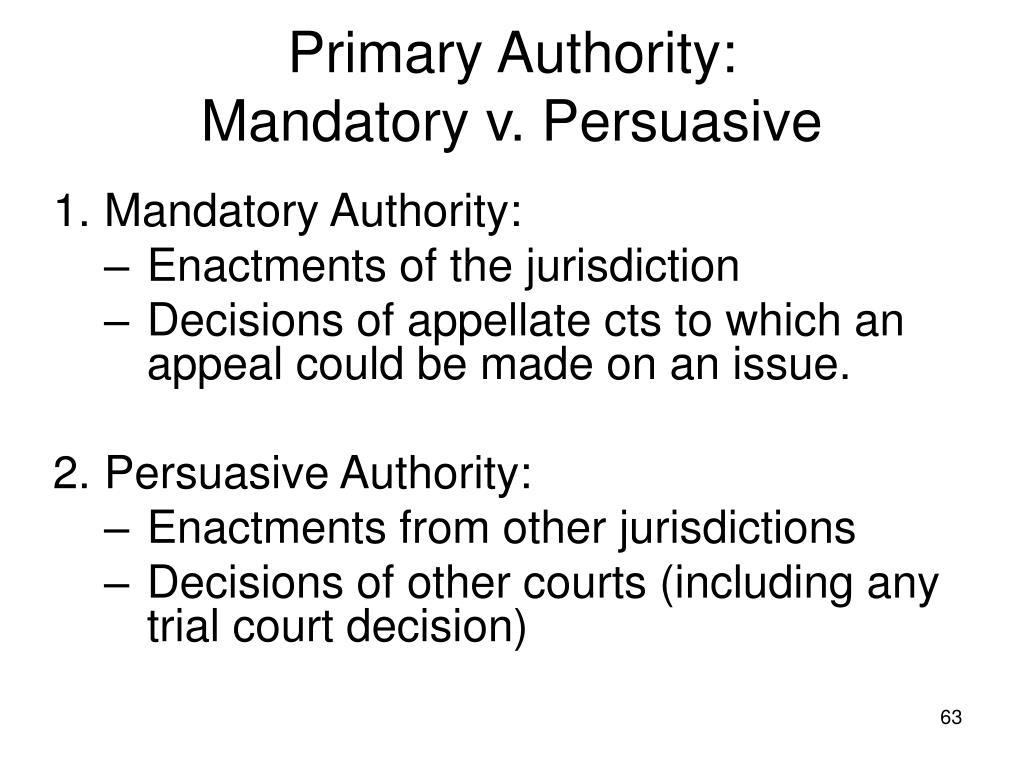 Primary Authority: