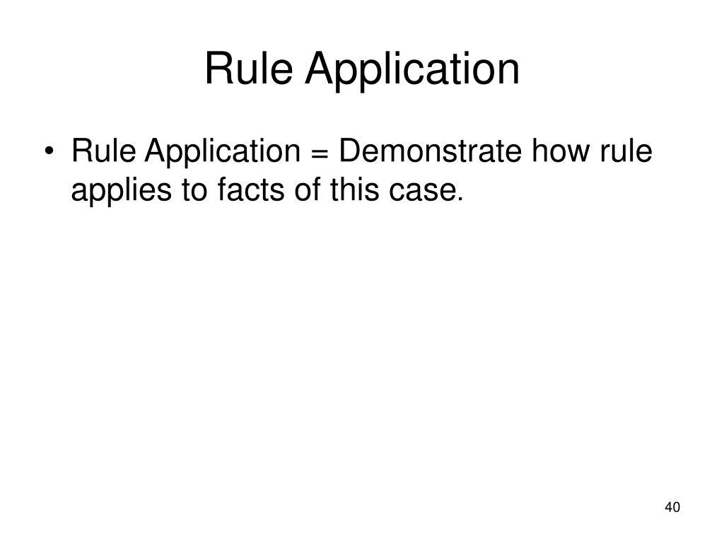 Rule Application