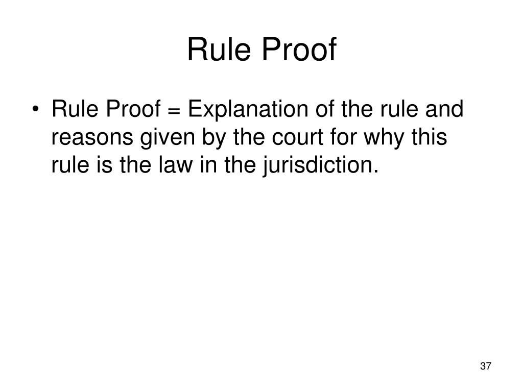 Rule Proof