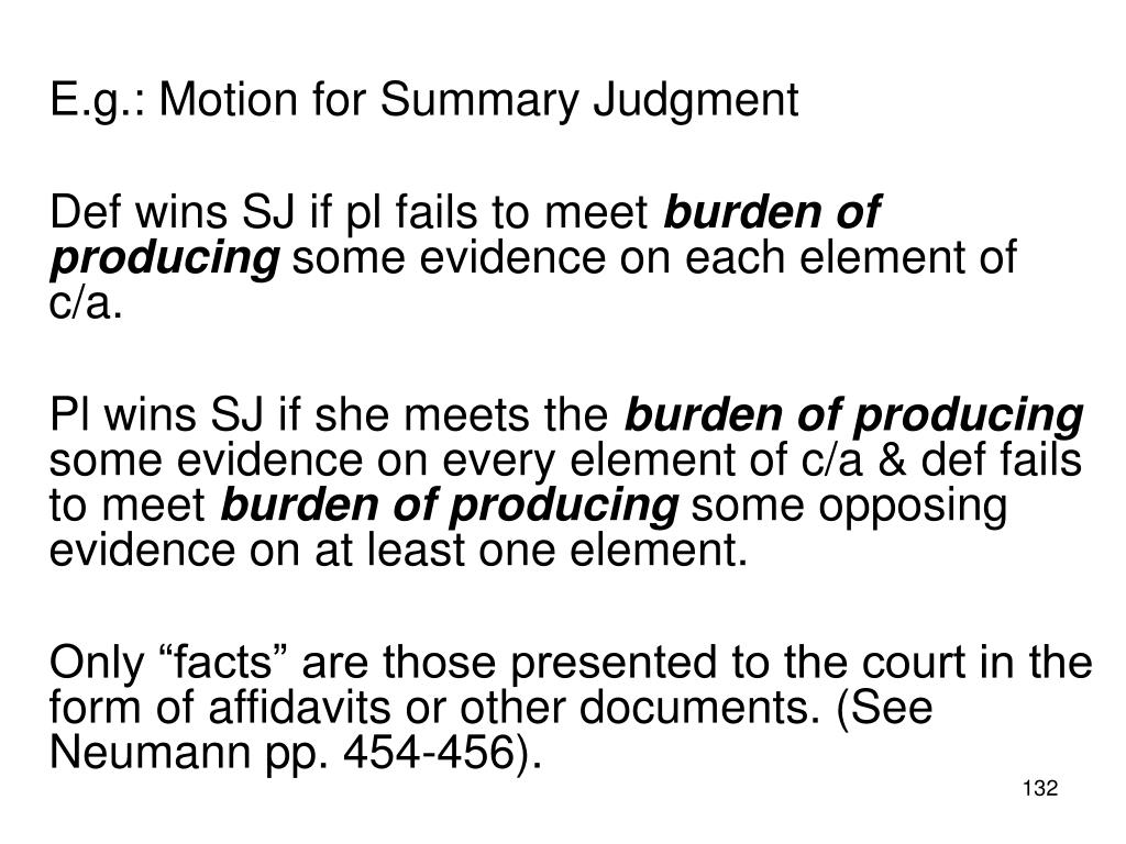 E.g.: Motion for Summary Judgment