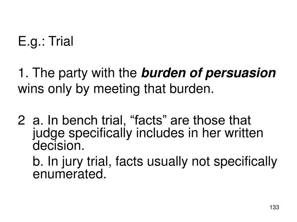 E.g.: Trial