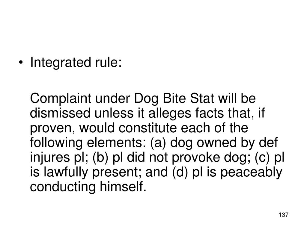 Integrated rule: