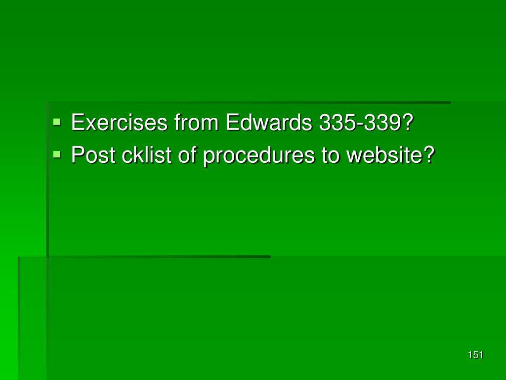 Exercises from Edwards 335-339?