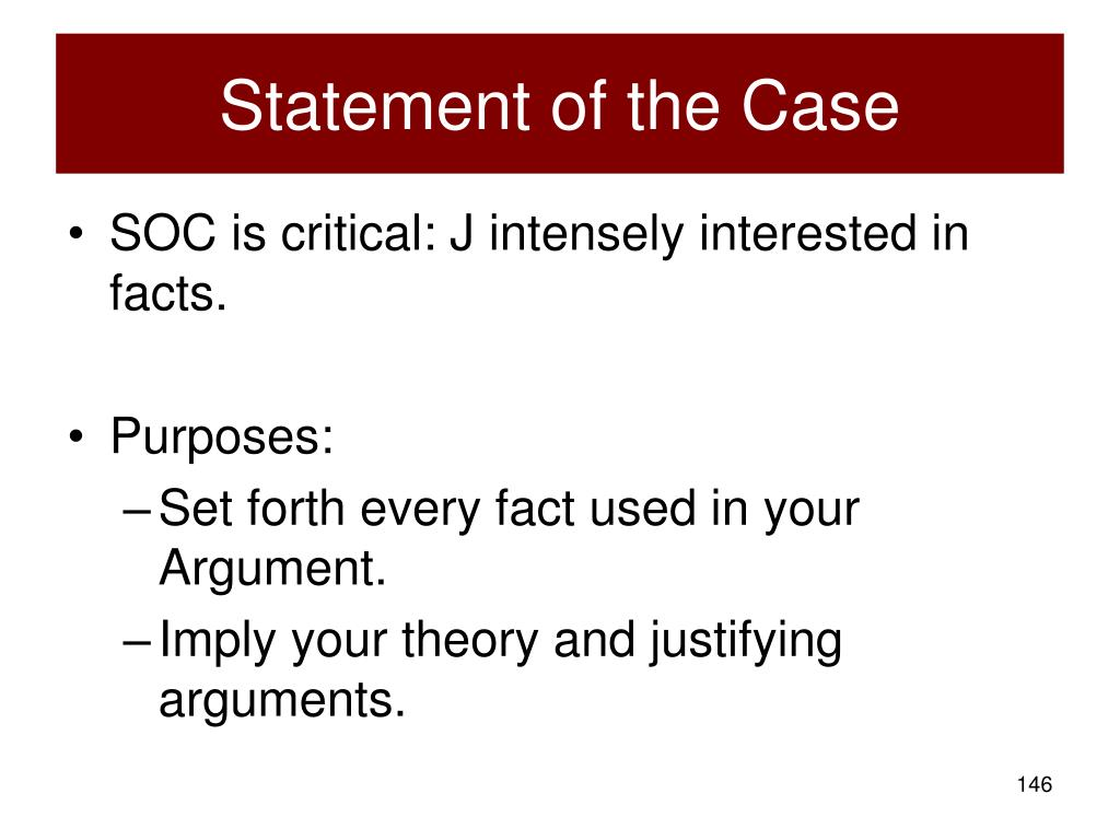 Statement of the Case