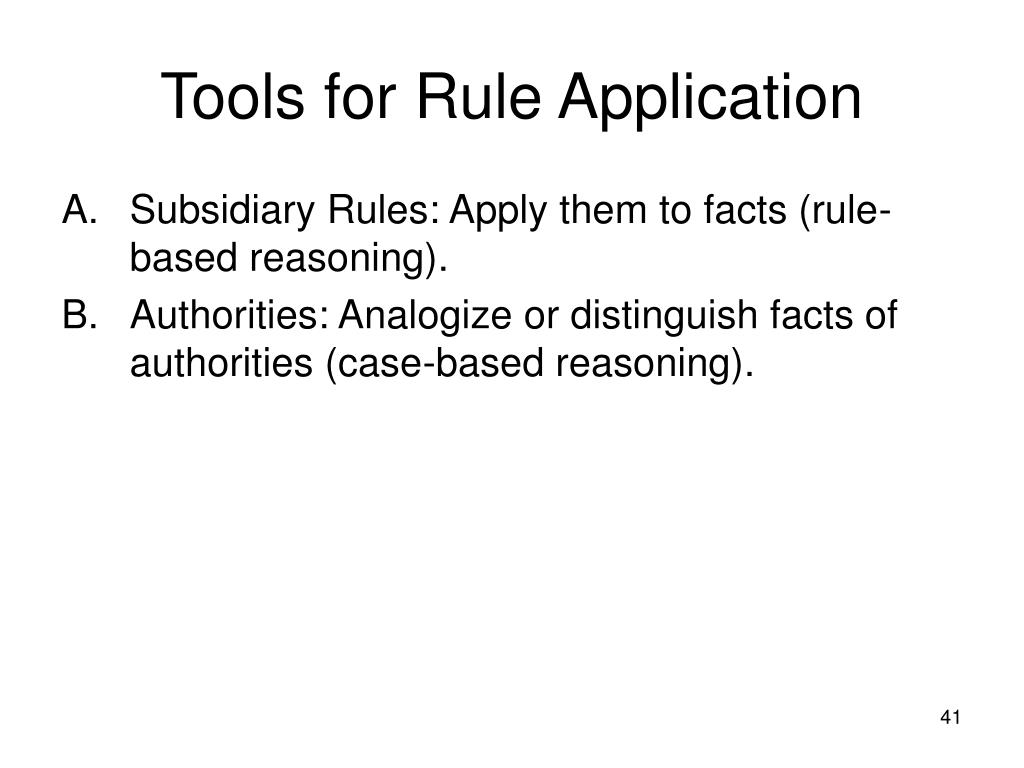 Tools for Rule Application