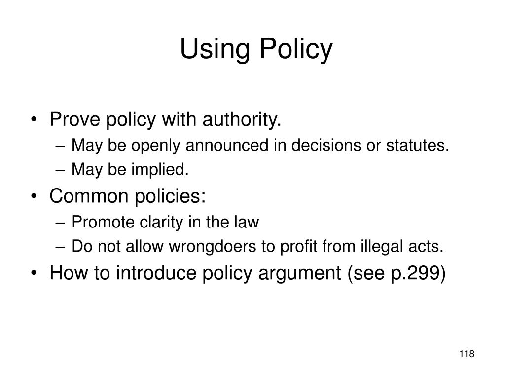 Using Policy