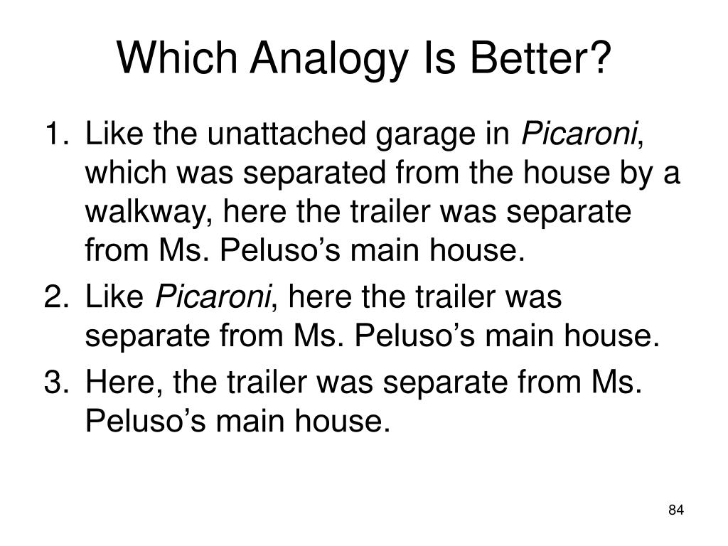 Which Analogy Is Better?